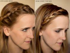 15 Ways to Pin Back Those Bangs #hairstyles, #hair, #braids