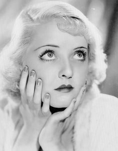 Bette Davis with a moon manicure