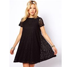 9765a6d09c6 Casual Short Sleeve Loose Hollow Out Short Dress Type Of Pants