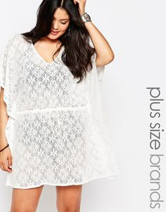 dc7164aee29 New+Look+Inspire+Crochet+Kaftan Plus Size Womens Clothing