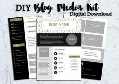 These are some great DIY easy blog media kit templates if you're in need of ideas on how to make your own. Love the colorful design and templates for this media kit!