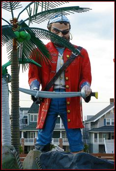 Pirate Muffler Man on Ocean City NJ Boardwalk