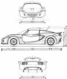 299 best blueprints and drawings images on pinterest in 2018 lotus elise mk ii malvernweather Gallery