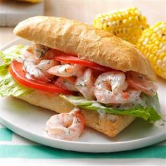 Lemon & Dill Shrimp Sandwiches Recipe -Our family took a once-in-a-lifetime trip to Norway, where we got to eat incredible shrimp sandwiches like these. The crustier the bread, the better. —Monica Kolva, Millville, New Jersey