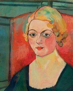 Self-portrait by Suzanne Valadon. Marie-Clémentine Valade, dite Suzanne Valadon, née le 23 septembre 1865 à Bessines-sur-Gartempe et morte le 7 avril 1938 à Paris, est une peintre française. Elle est la mère du peintre Maurice Utrillo.