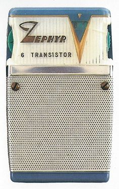 "Zephyr transistor radio from ""Made in Japan: Transistor Radios of the 1950s and 1960s"""