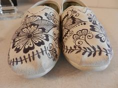 hand-drawn shoes