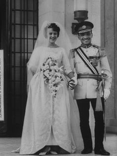 King Hussein of Jordan and Princess Muna of Jordan, May 25, 1961: Wedding of King Hussein of Jordan and Antoinette Gardiner in Amman, Jordan