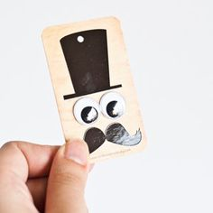 4 Funny Gift Tags with Goggly Eyes by NotbookNotbuk on Etsy, $3.90