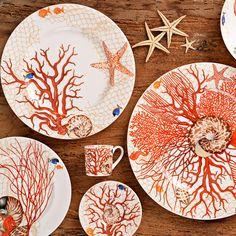 Bone China, Dinner Plates, Sea Shells, Decorative Plates, Pottery, Ceramics, Tableware, Fabric, Prints