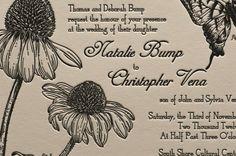 Letterpress Printed Vintage Botanic Wedding by tweedlepress, $15.00