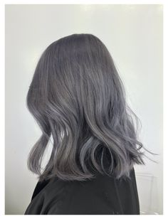 Dark Grey Hair Color, Purple Grey Hair, Ash Grey Hair, Ashy Hair, Hair Color Pink, Hair Dye Colors, Pink Hair, Color Blue, Balayage Hair