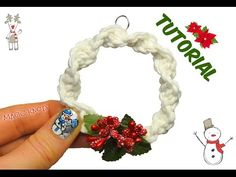 Hi Friends, Ill show you How to make Macrame Christmas Wreath for your . Macrame craft will allow you to have unique handmade Macrame Christmas Diy Christmas Ornaments, Handmade Christmas, Christmas Wreaths, Fabric Wreath, Diy Wreath, Mesh Wreaths, Ornament Tutorial, Wreath Tutorial, Natal Diy