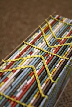 creative coptic stitch #bookbinding by kate e. did with arrows