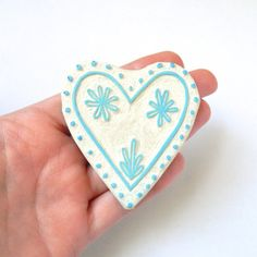 Signature Folk Heart Stamp - Rubber Stamp - Cling Rubber Stamp on Etsy, $22.00