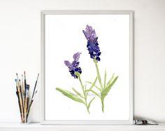 art print Lavender lavender watercolor botanical by TheJoyofColor