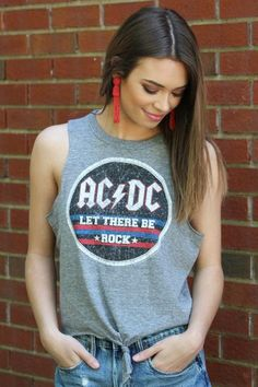 Chaser Brand ACDC Let There Be Rock Tank Top