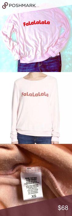 e9640b4e407 NWOT Wildfox Falalala Christmas Sweater Jumper XS NWOT Wildfox Size XS  Oversized Sweater Sweatshirt Jumper FaLaLaLaLa