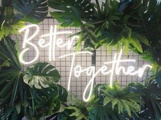 """LED Neon Wedding custom sign """"Better together"""", Marriage Vows, Led Neon Signs, Sign Lighting, Wedding Signs, Wedding Food Menu, Wedding Blog, To Infinity And Beyond, Blue Aesthetic, Better Together"""