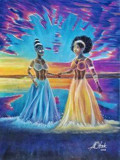 Pastel on Board. Mystic, Pastel, Healing, Gemstones, Board, Artwork, Painting, Cake, Work Of Art