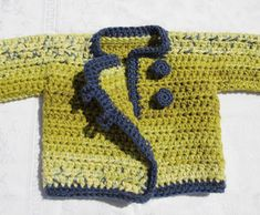 Quick Crocheted Baby Sweater Made In One Piece pattern