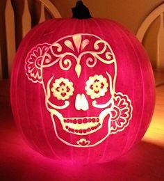 I just finished carving my Dia De Los Muertos Calavera pumpkin! What does r/art think?