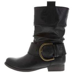 Payless, Women's Short Pacey Buckle Boot, Women's