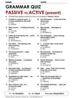 English Grammar Passive vs Active: Present www.allthingsgrammar.com/passive.html