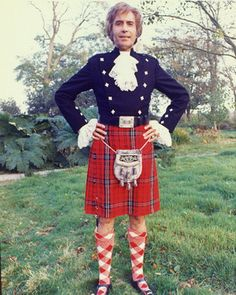 Christopher Lee (appropriate for today, considering he was initially famous for appearing in the classic Hammer Horror films) Hammer Horror Films, Hammer Films, Tartan Men, Plaid, Christopher Lee, Scotland Men, Wicker Man, Scottish Kilts, Scottish Fashion