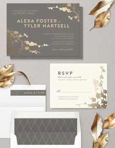 In Bloom by romantic floral invitation Three Kisses Studio @minted