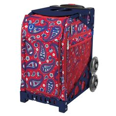 Paisley in Red Zuca Bag Insert Only Figure Skating Bag Insert Bag Skate, Zuca Bag, Figure Skating, Paisley Print, Fashion Bags, Red And Blue, Navy Blue, Print Design, Purple