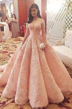 Blush Pink Evening Dress New Fashion Gorgeous Sweet 16 Gowns pink long Quinceanera Dresses