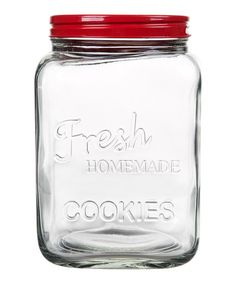 Another great find on #zulily! Red 'Homemade Cookies' Jar by Home Essentials and Beyond #zulilyfinds