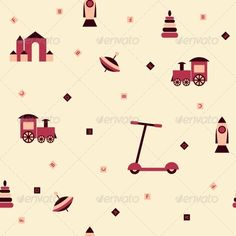 Children Toys Seamless Background  #GraphicRiver         Children toys seamless background. Vector illustration. EPS 8.     Created: 4May13 GraphicsFilesIncluded: JPGImage #VectorEPS Layered: No MinimumAdobeCSVersion: CS Tags: alphabet #background #bed #beige #box #brown #castle #children #cube #missile #object #pattern #pink #pyramid #repetition #rocket #s #scooter #seamless #tile #tile-able #toy #train #wallpaper #whirligig