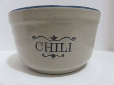 RED WING CHILI BOWL MARKED - RED WING STONEWARE CO.  RED WING, MINN. #REDWING