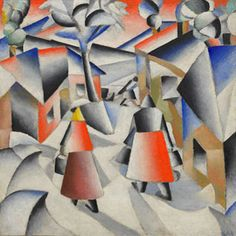 Kazimir Malevich: Morning in the Village after Snowstorm, 1912