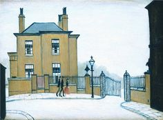 The Old House, Grove Street, Salford by L.S.Lowry 1948 Oil on Canvas