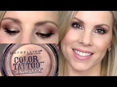 Eyeshadow Tutorial | Bad to the Bronze Maybelline Color Tattoo - YouTube