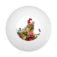 Christmas Squirrel Ping-Pong Ball - tap/click to personalize and buy #PingPongBall  #christmas #squirrel #funny #holiday #gifts