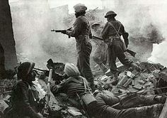 Soldiers of the British 8th Army fighting in the Italian campaign.