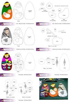 Felt Nativity Set Pattern Free Download