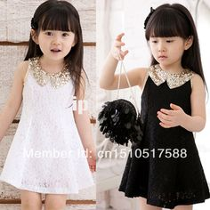 Summer New Girl Kids fashion sleeveless vest Princess Dress Baby Casual Solid Lace Sequin dress Children's Clothing Party dress Girls Lace Dress, Girls Party Dress, Baby Dress, Girls Dresses, Dress Girl, Tutu Dresses, Party Dresses, Formal Dresses, Kids Outfits Girls