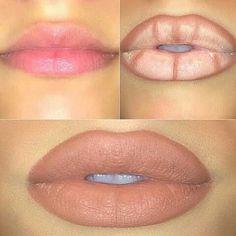 how to fake a lip job thick lips with makeup kylie jenner lips Loading. how to fake a lip job thick lips with makeup kylie jenner lips Lip Contouring, Contour Makeup, Skin Makeup, Makeup Goals, Love Makeup, Beauty Make-up, Beauty Hacks, Beauty Tips, Beauty Zone