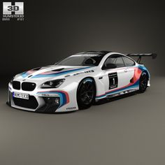 BMW M6 (F13) Coupe GT3 2016 3d model from Humster3D.com.