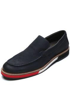 Oxford Sapato Casual Reserva Recortes Azul Compre Agora