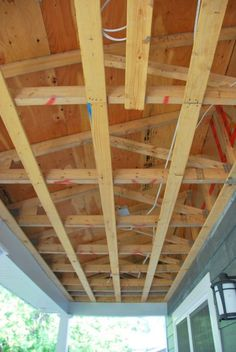 how to a diy cedar lined porch ceiling, how to, porches, wall decor, woodworking projects Porch Wall Decor, Porch Ceiling, Plank Ceiling, Ceiling Decor, Ceiling Design, Plywood Ceiling, Ceiling Ideas, Curved Pergola, Home