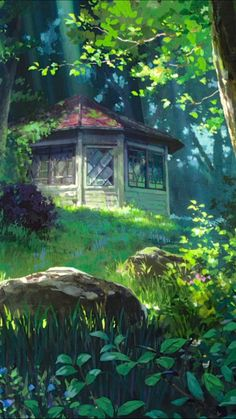 Fantasy Art Landscapes, Fantasy Landscape, Landscape Art, Studio Ghibli Art, Studio Ghibli Movies, Art Naruto, Studio Ghibli Background, Anime Scenery Wallpaper, Wallpaper Desktop