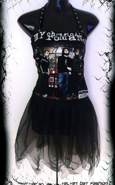 My Chemical Romance Tutu Dress S  M by VelvetBatFashion on Etsy