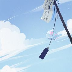 Japanese Culture, Japanese Art, Baby Blue Wallpaper, Japanese Wind Chimes, Light Blue Aesthetic, Poses References, Aesthetic Themes, Anime Japan, Locked Wallpaper