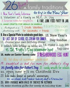 26 Cool New Family Traditions To Start In The New Year Teachmama Com